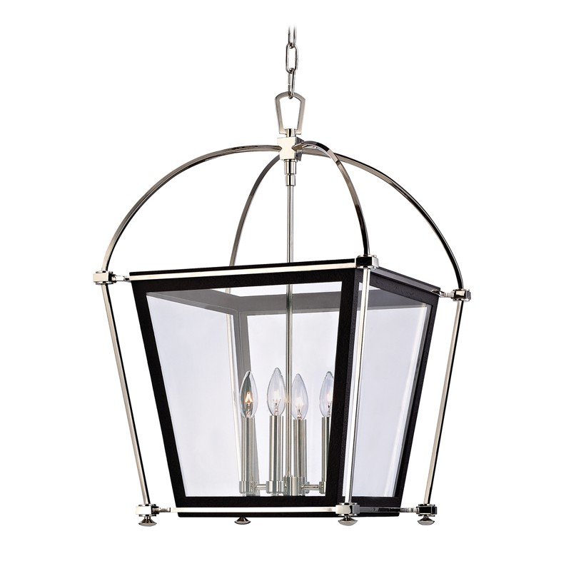 Hudson Valley Lighting 3618-PN Hollis 4 Light Pendant in Polished Nickel