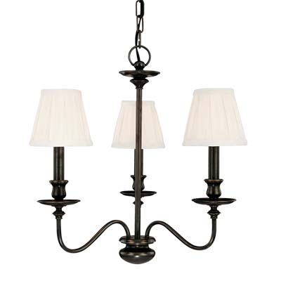 Hudson Valley Lighting 4033-AGB Menlo Park 3 Light Chandelier in Aged Brass