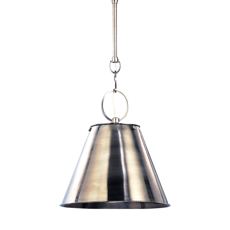 Hudson Valley Lighting 5511-HN Altamont 1 Light Pendant in Historic Nickel