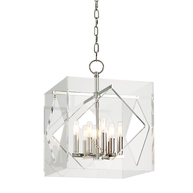 Hudson Valley Lighting 5916-PN Travis 8 Light Pendant in Polished Nickel