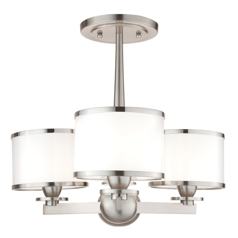 Hudson Valley Lighting 6113-SN Basking Ridge 3 Light Chandelier in Satin Nickel