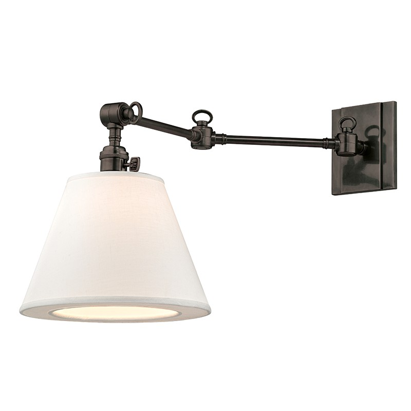 Hudson Valley Lighting 6233-OB Hillsdale 1 Light Swing Arm Wall Sconce in Old Bronze