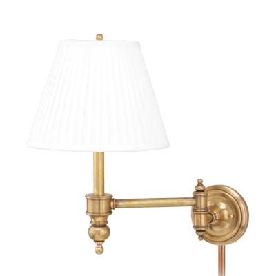 Hudson Valley Lighting 6331-PN Chatham 1 Light Wall Sconce in Polished Nickel