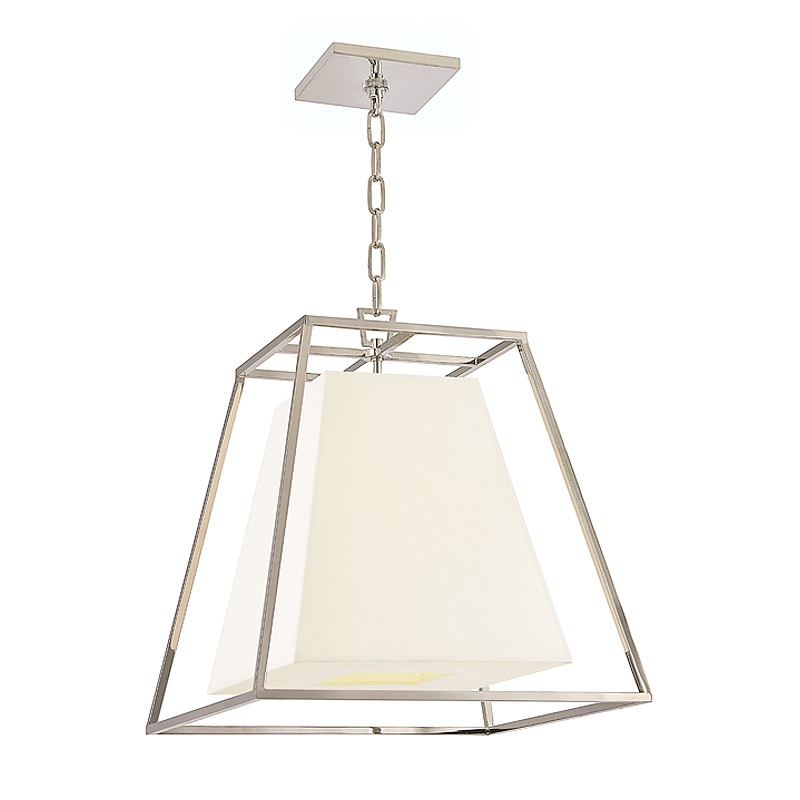 Hudson Valley Lighting 6917-PN-WS Kyle 4 Light Pendant in Polished Nickel