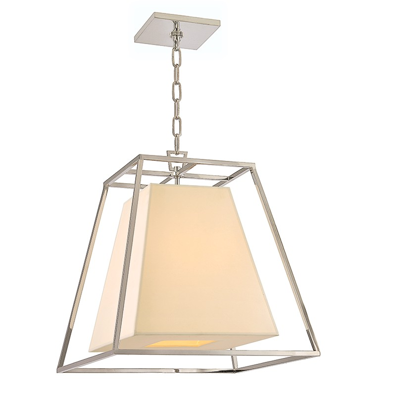 Hudson Valley Lighting 6917-PN Kyle 4 Light Pendant in Polished Nickel