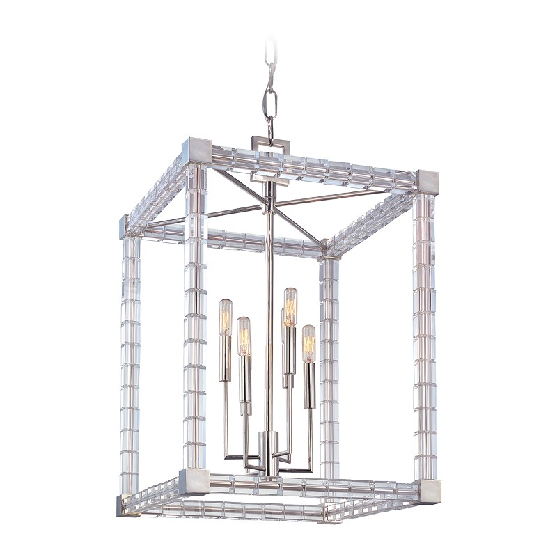 Hudson Valley Lighting 7118-PN Alpine 6 Light Chandelier in Polished Nickel