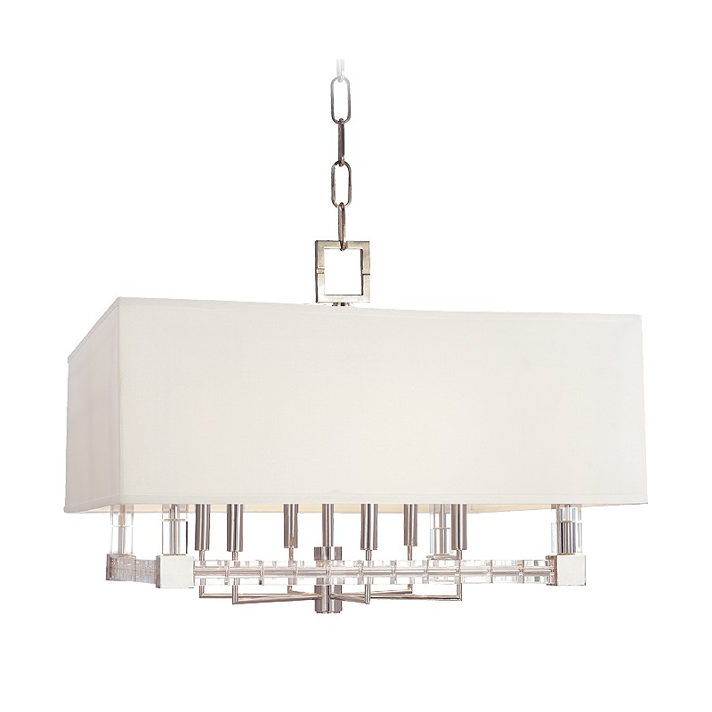 Hudson Valley Lighting 7126-PN Alpine 6 Light Chandelier in Polished Nickel