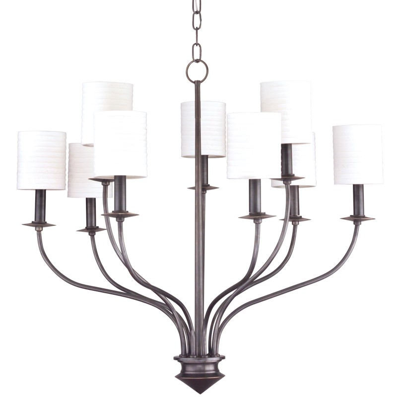 Hudson Valley Lighting 7219-OB Sheffield 9 Light Chandelier in Old Bronze