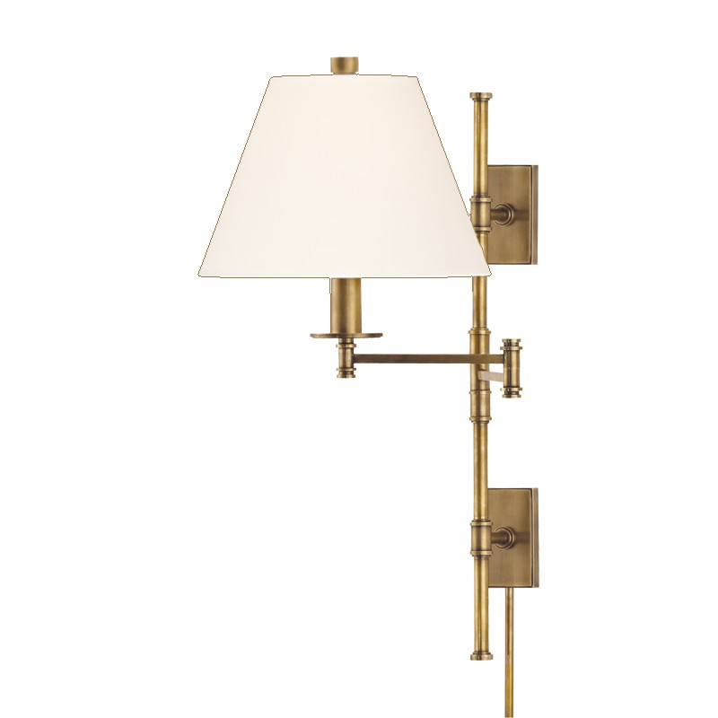 Hudson Valley Lighting 7731-AGB-WS Claremont 1 Light Wall Sconce in Aged Brass