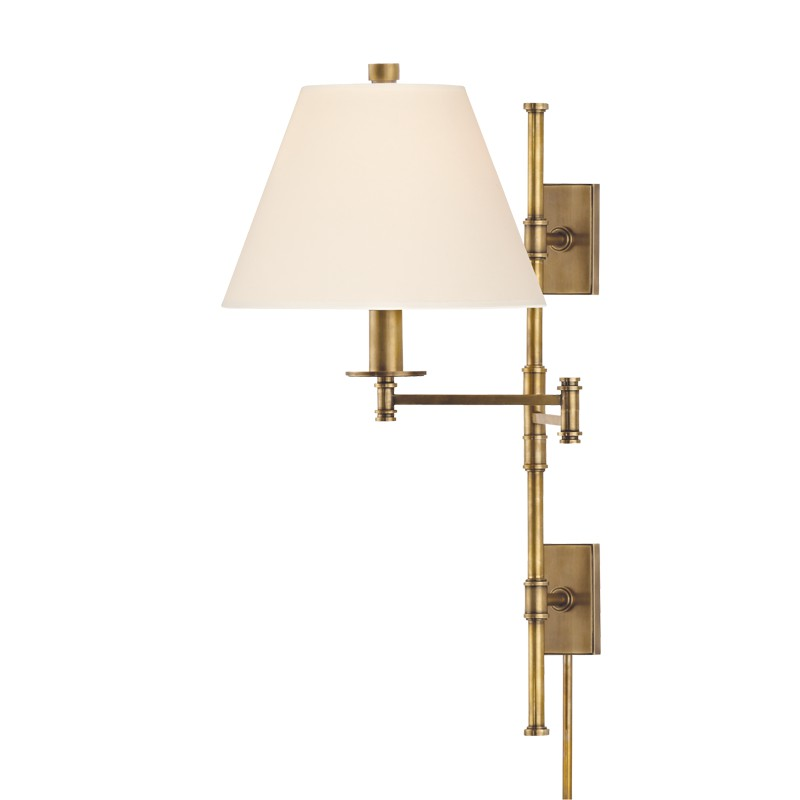Hudson Valley Lighting 7731-AGB Claremont 1 Light Wall Sconce in Aged Brass