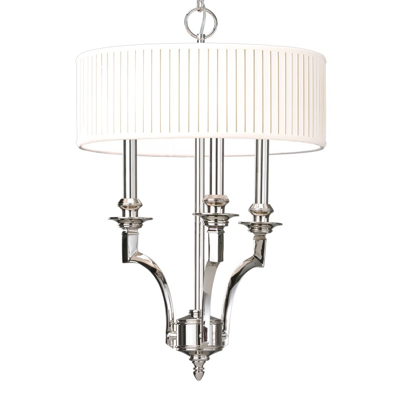 Hudson Valley Lighting 7913-PN Mercer 3 Light Pendant in Polished Nickel