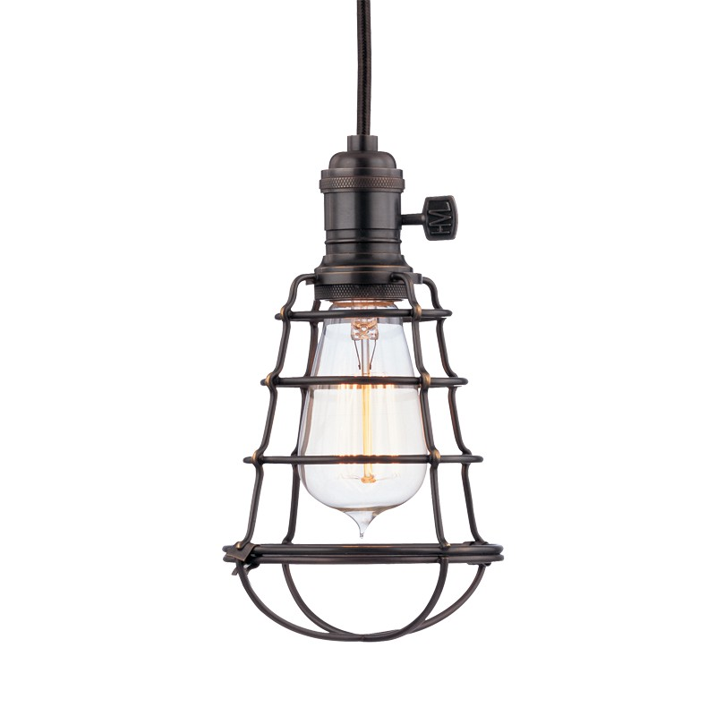 Hudson Valley Lighting 8001-OB-WG Heirloom 1 Light Pendant in Old Bronze
