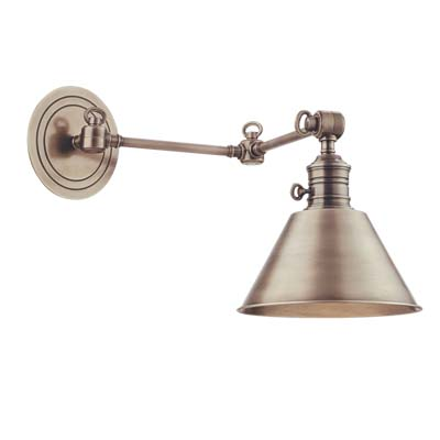 Hudson Valley Lighting 8322-AGB Garden City 1 Light Wall Sconce in Aged Brass