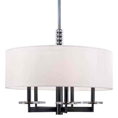 Hudson Valley Lighting 8824-PN Chelsea 5 Light Chandelier in Polished Nickel