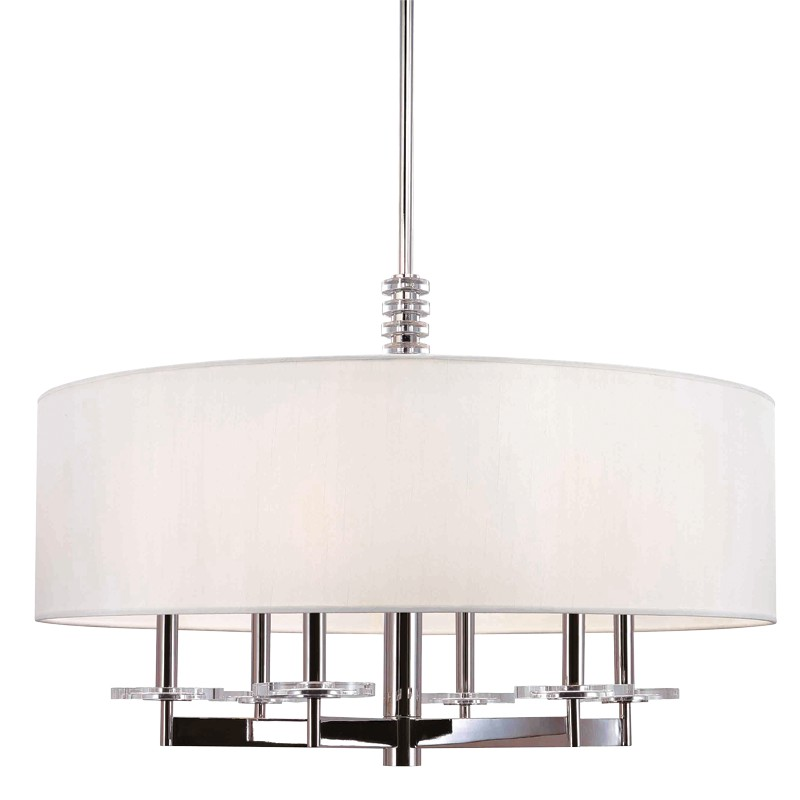 Hudson Valley Lighting 8830-PN Chelsea 6 Light Chandelier in Polished Nickel