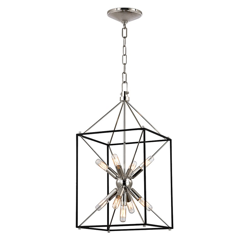 Hudson Valley Lighting 8912-PN Glendale 9 Light Pendant in Polished Nickel