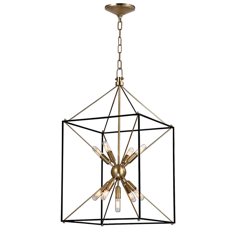 Hudson Valley Lighting 8916-AGB Glendale 9 Light Pendant in Aged Brass