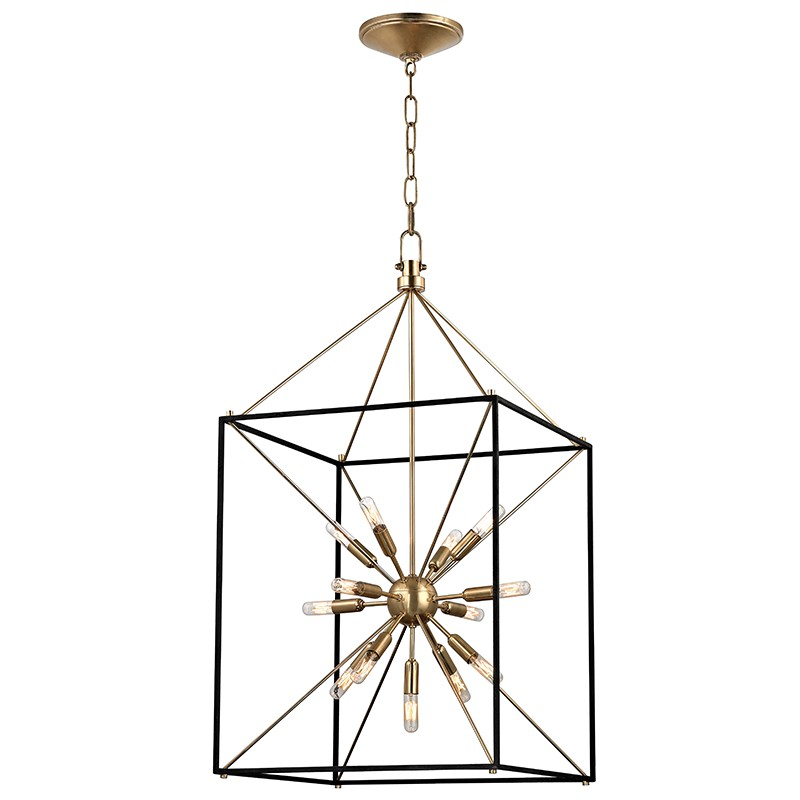 Hudson Valley Lighting 8920-AGB Glendale 13 Light Chandelier in Aged Brass
