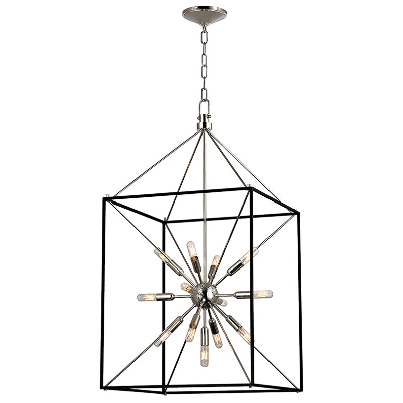 Hudson Valley Lighting 8920-PN Glendale 13 Light Chandelier in Polished Nickel