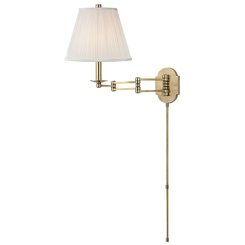 Hudson Valley Lighting 9321-AGB Ravena 1 Light Wall Sconce in Aged Brass