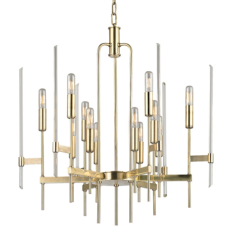 Hudson Valley Lighting 9912-AGB Bari 12 Light Chandelier in Aged Brass