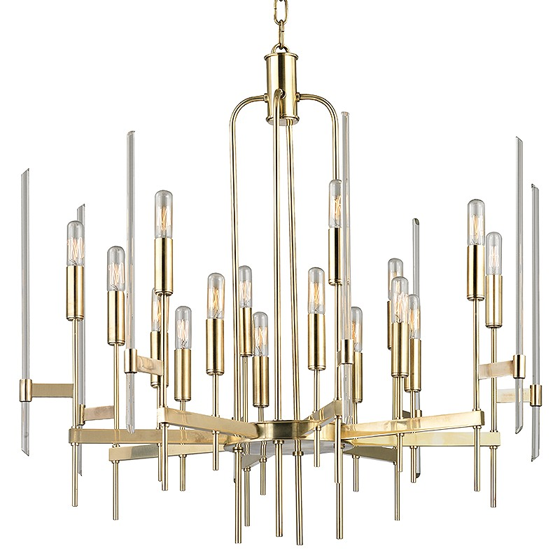 Hudson Valley Lighting 9916-AGB Bari 16 Light Chandelier in Aged Brass
