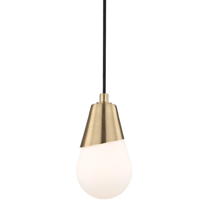 Mitzi by Hudson Valley Lighting H101701-AGB CORA 1 Light Pendant