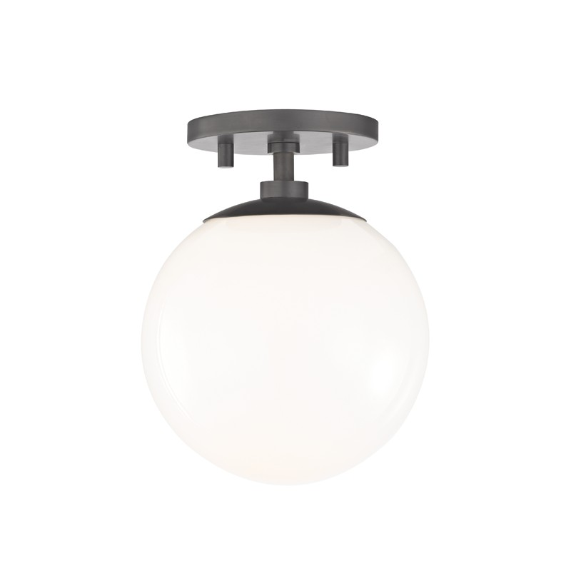 Mitzi by Hudson Valley Lighting H105601-AGB STELLA 1 Light Semi Flush