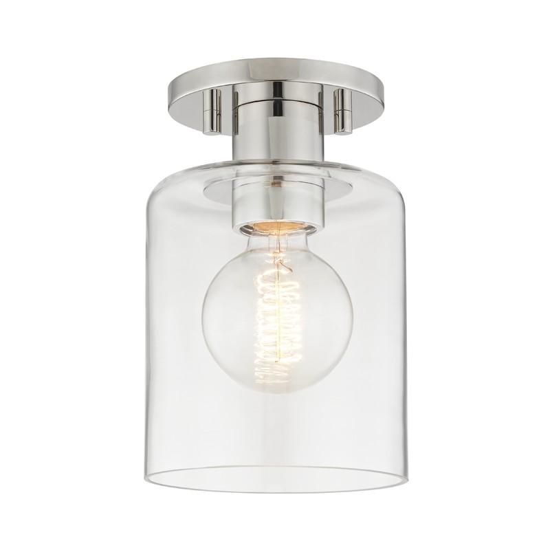 Mitzi by Hudson Valley Lighting H108601-PN NEKO 1 Light Semi Flush