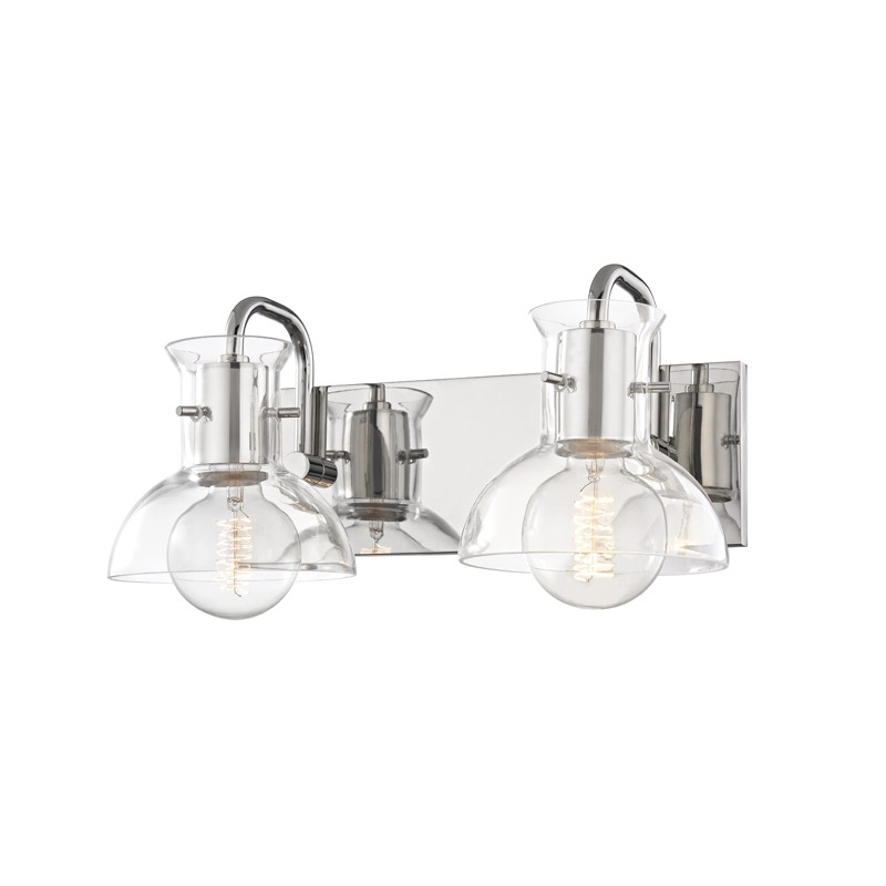 Mitzi by Hudson Valley Lighting H111302-PN RILEY 2 Light Bath Bracket