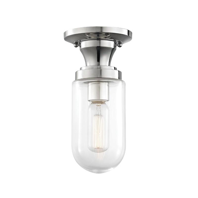 Mitzi by Hudson Valley Lighting H124601-PN CLARA 1 Light Semi Flush
