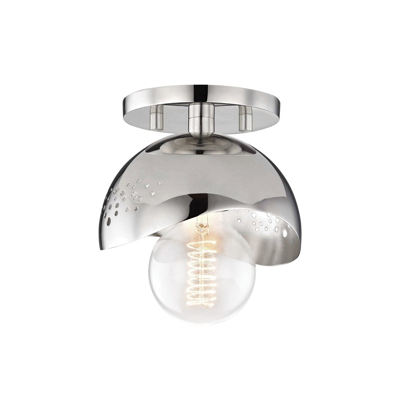 Mitzi by Hudson Valley Lighting H131501-PN HEIDI 1 Light Flush Mount