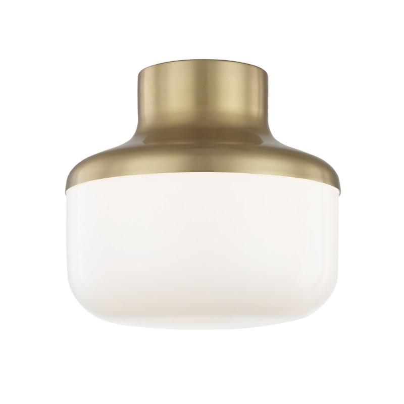 "Mitzi by Hudson Valley Lighting H144501S-AGB LIVVY 9"" 1 Light Flush Mount"