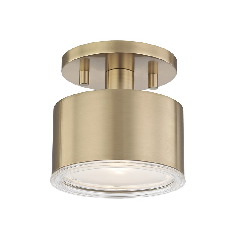 Mitzi by Hudson Valley Lighting H159601-AGB NORA 1 Light Flush Mount