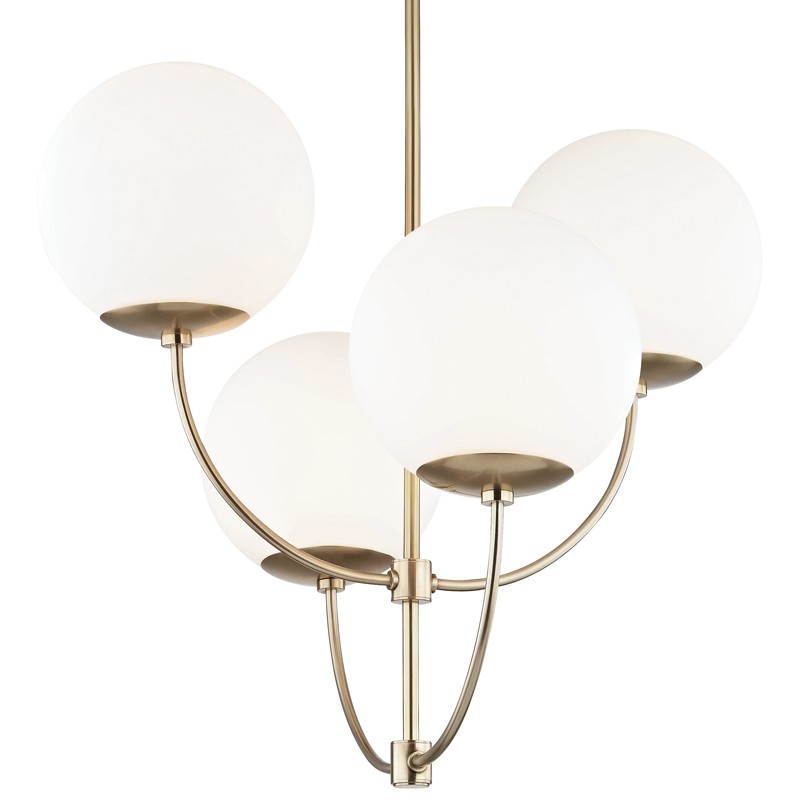 Mitzi by Hudson Valley Lighting H160804-AGB CARRIE 4 Light Chandelier