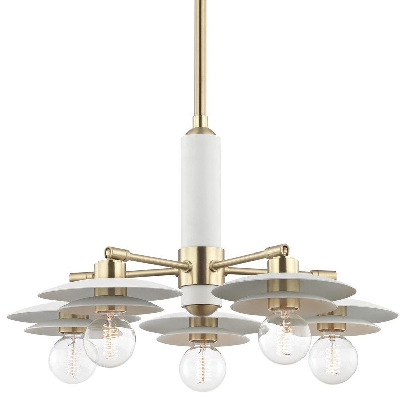 Mitzi by Hudson Valley Lighting H175805-AGB/WH MILLA 5 Light Chandelier