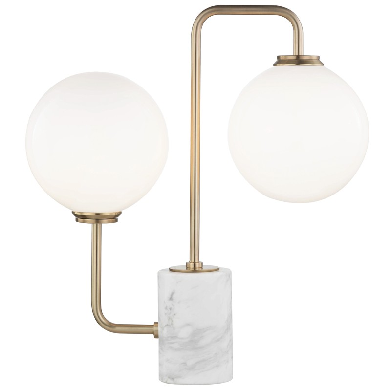 Mitzi by Hudson Valley Lighting HL170201-AGB MIA 2 Light Table Lamp