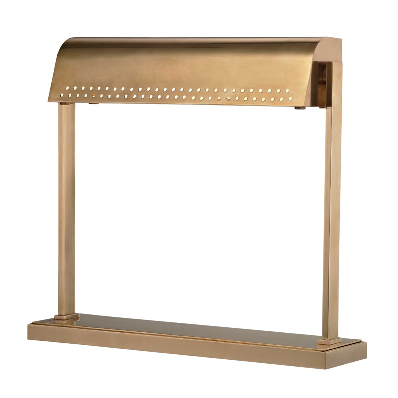 Hudson Valley L811-AGB Garfield Led Desk Lamp in Aged Brass