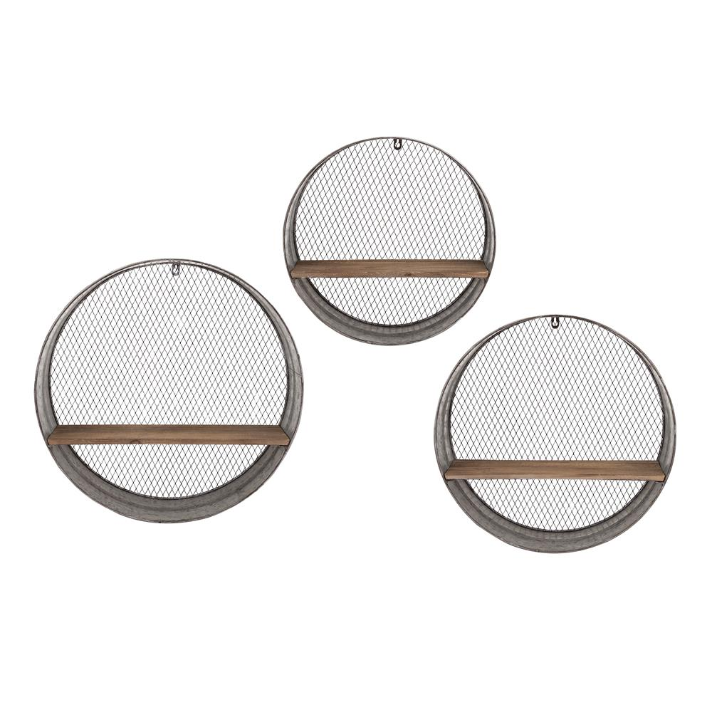 IMAX 65320-3 Laurel Round Wall Shelves - Set of 3
