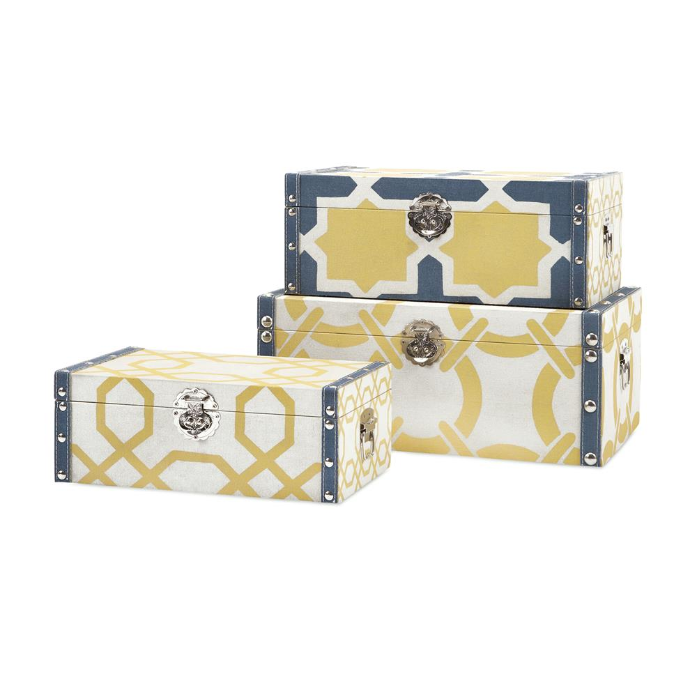 IMAX 65508-3 Andrea Storage Trunks - Set of 3