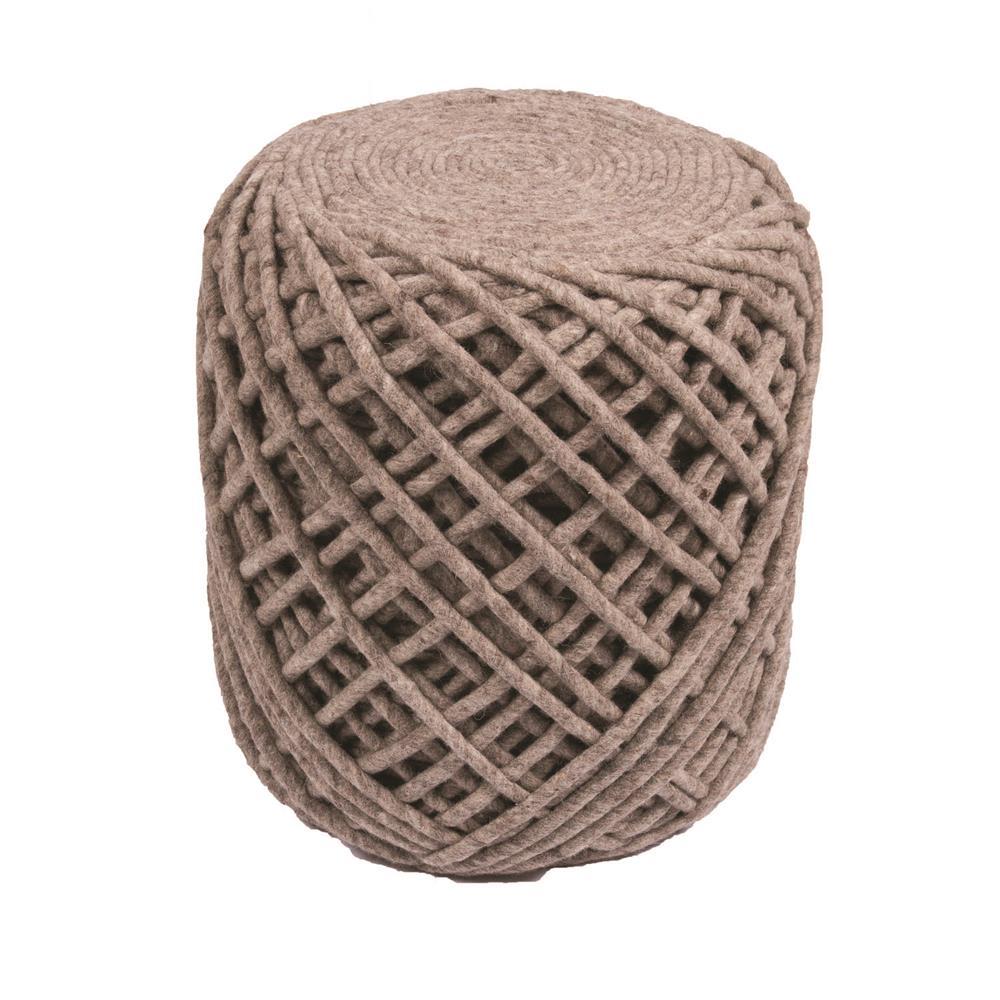 Jaipur SCP02 Wool Guna Pouf in Mix