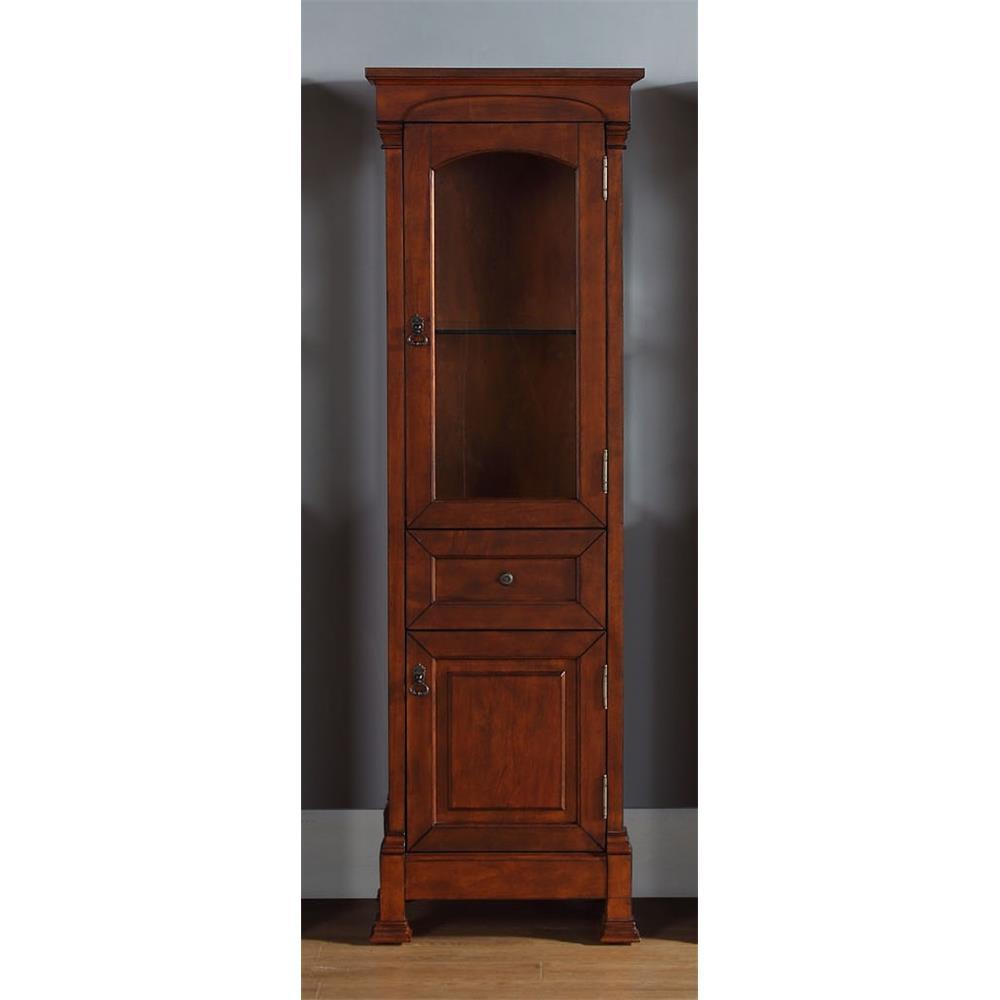 James Martin Furniture 147-114-5086 Brookfield Linen Cabinet, Warm Cherry