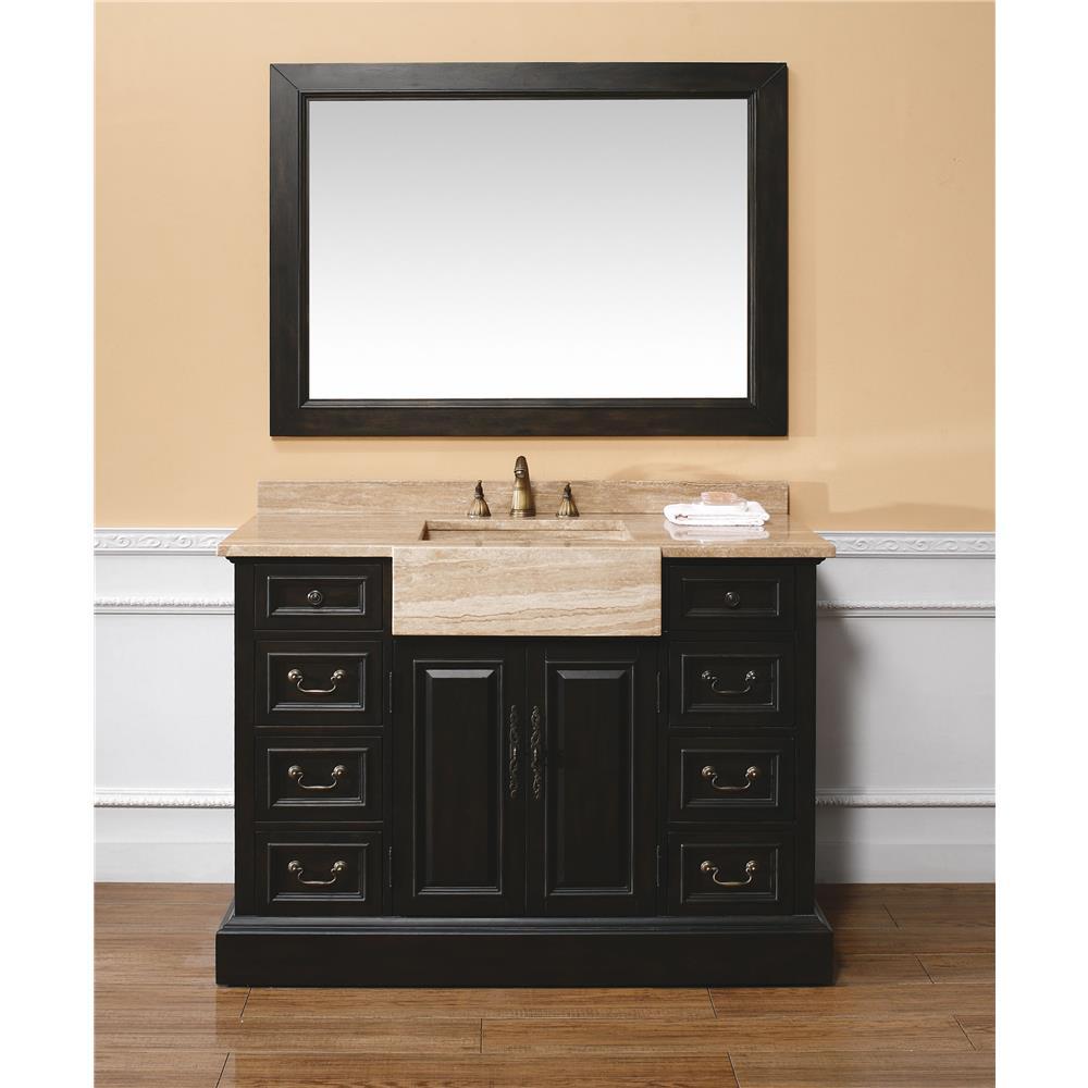 "James Martin Furniture 206-001-5922 Boston 47"" Mirror, Black"