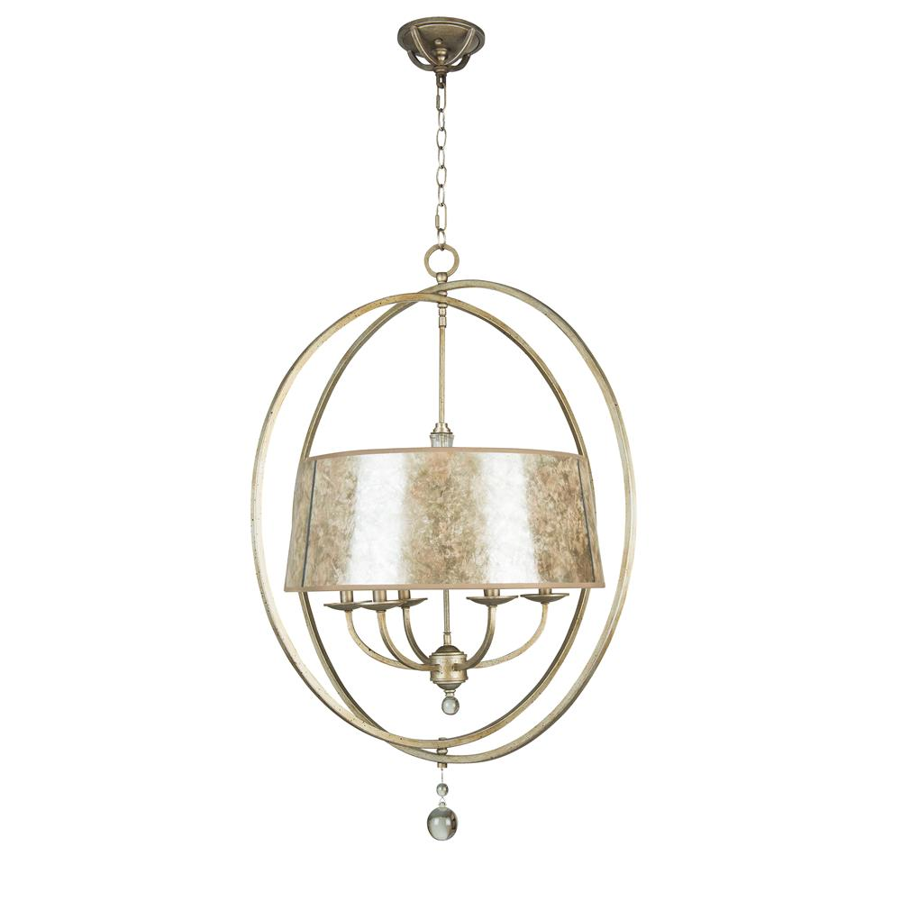 Jeremiah Lighting by Craftmade 35536-AO 6 LIGHT CHANDELIER in ATHENIAN OBOL