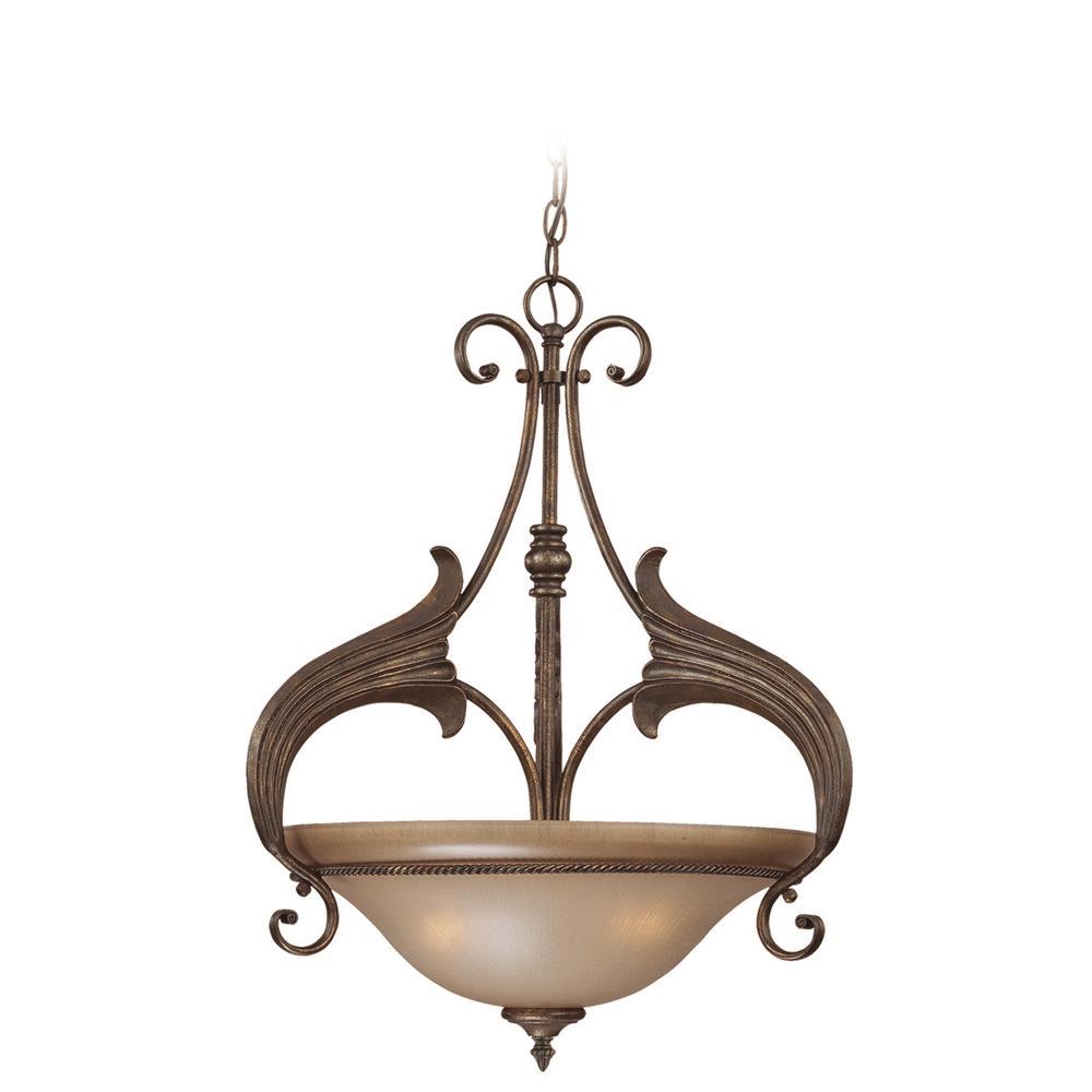 25543 Bbz Jeremiah Lighting By Craftmade 3 Light Inverted Pendant In Burleson Bronze Craftmadefans