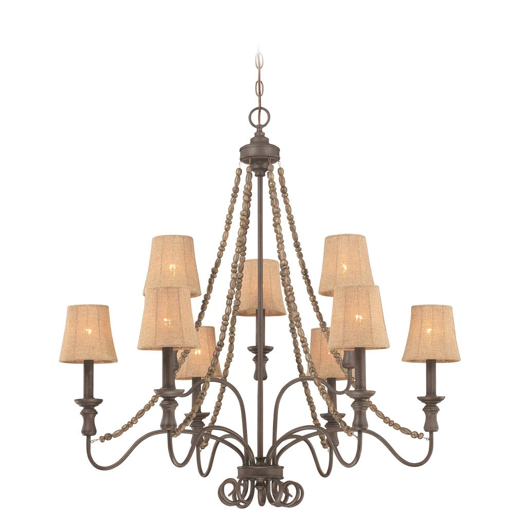 27529 Si Jeremiah Lighting By Craftmade 9 Light Chandelier In Seville Iron Craftmadefans
