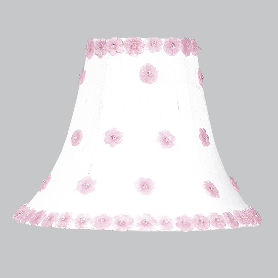 Jubilee Collection 4208 Large Petal Flower Shade in White and Pink