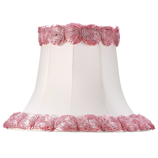 Jubilee Collection 5201 Extra Large Lamp Shade in White with Ring of Roses
