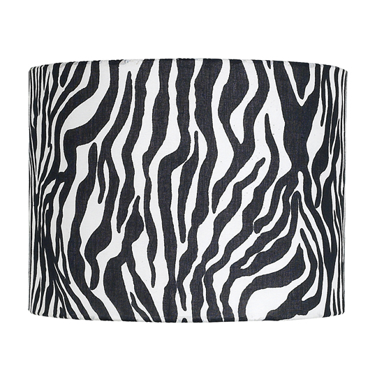Jubilee Collection 5500 Extra Large Drum Shape Lamp Shade in Zebra Print