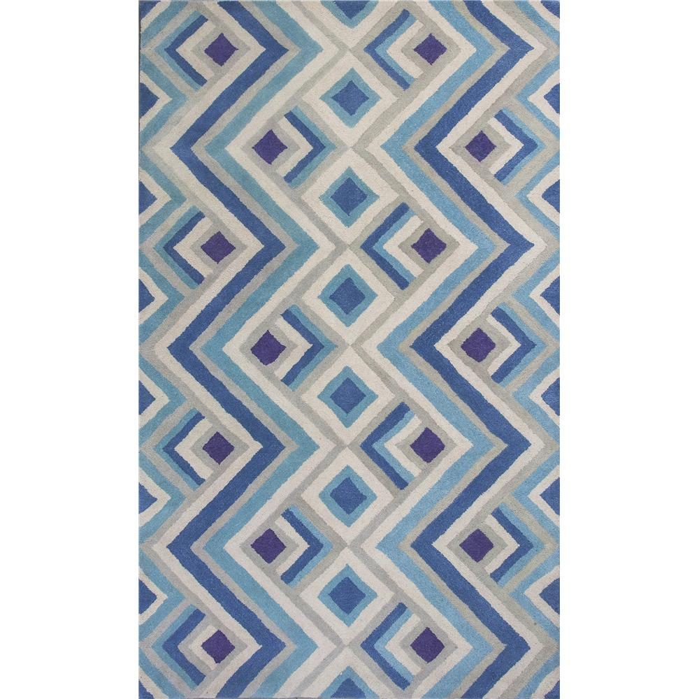 KAS DOH810623X76RU Donny Osmond Home Harmony 8106 Ivory/Blue Accents Area Rug